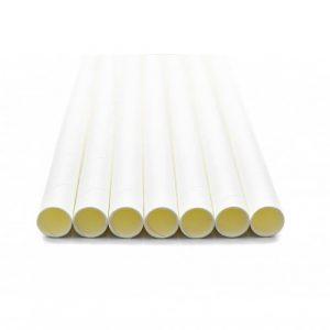 Palhinhas de papel brancas c/ individual (100u)