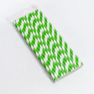 Palhinhas de papel cores c/ individual