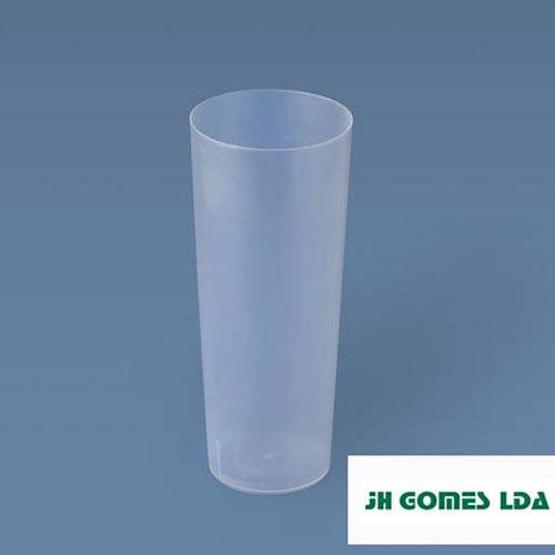 Copo Tubo 220ml PP Plástico Descartável Transparente   Jhgomes