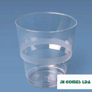 copo lux 25cl plástico PS