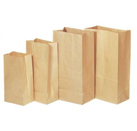100 Sacos Papel Americano 20x12x32,5cm | Sacos Papel | JHGomes
